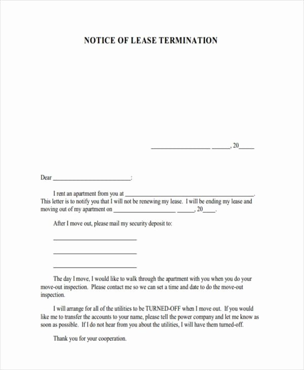 Example Of Notice Luxury Free 8 Termination Notice Examples & Samples In Pdf