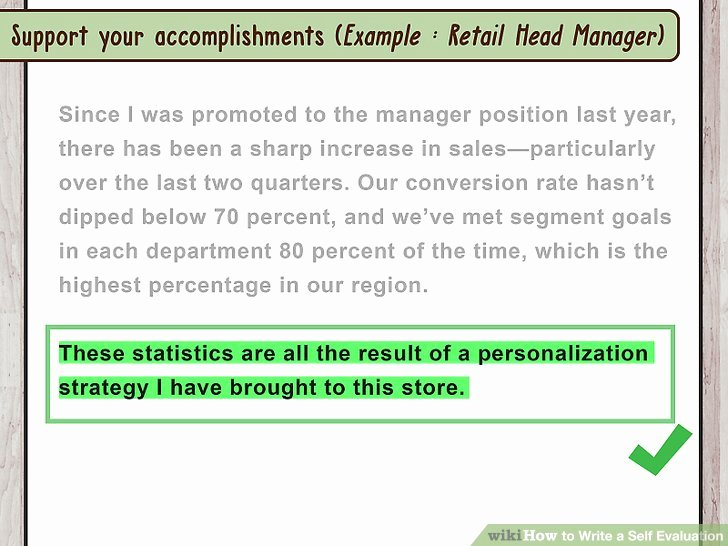 Example Of Self Evaluation Awesome How to Write A Self Evaluation with Sample Evaluations