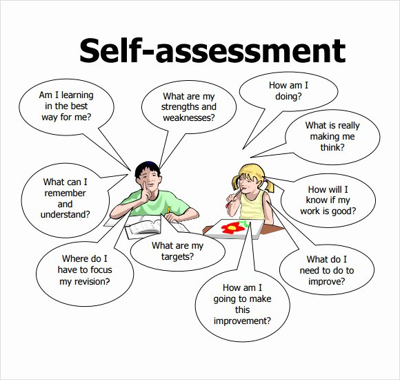 Example Of Self Evaluation Inspirational Self assessment – 7 Free Samples Examples format