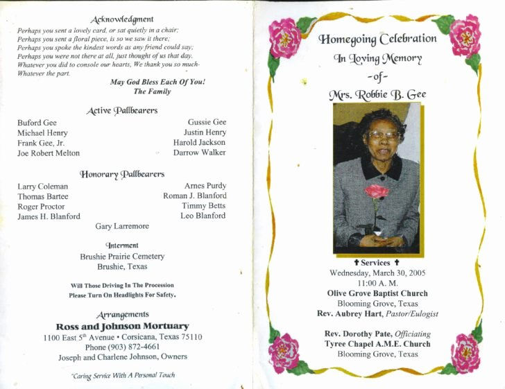 Examples Of Obituaries for A Mother Luxury Memorial Template Insssrenterprisesco Service Program