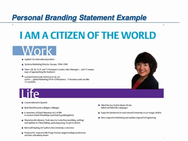 Examples Of Personal Brand Statements Beautiful Emerson Personal Branding Tips and tools 05 2015