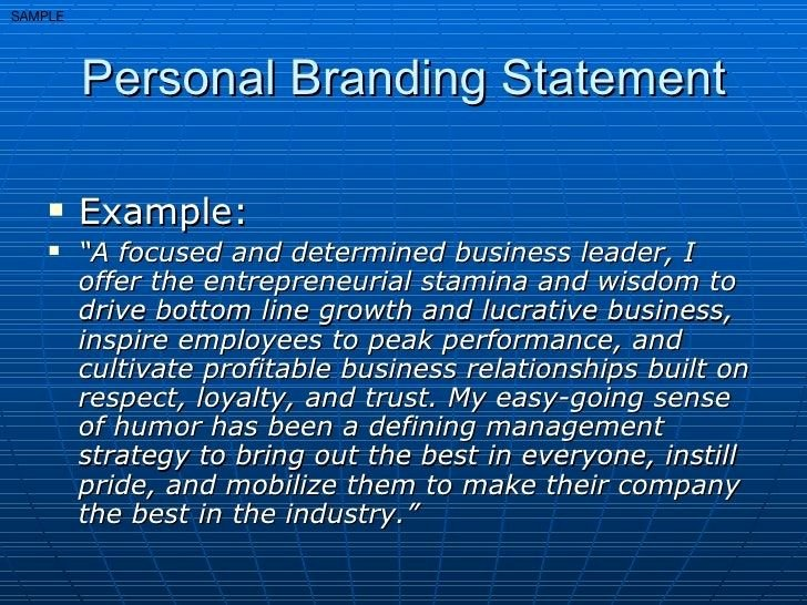 Examples Of Personal Brand Statements Elegant Personal Brand Statement Examples Google Search
