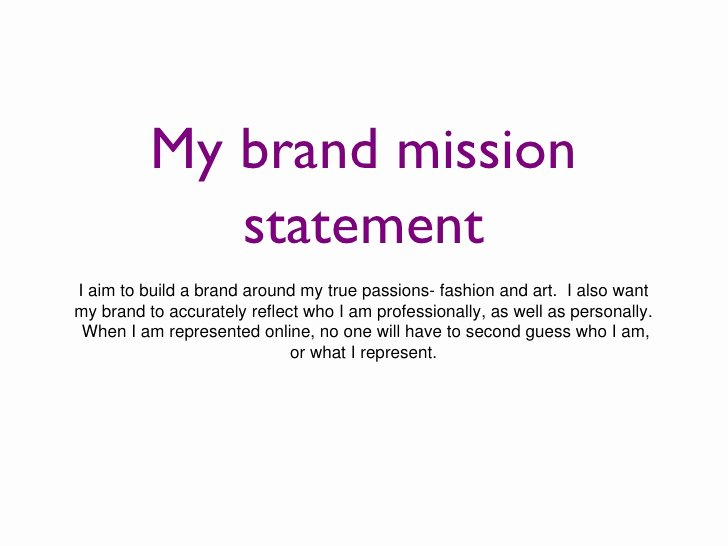 Examples Of Personal Brand Statements Fresh Personal Brand Slides