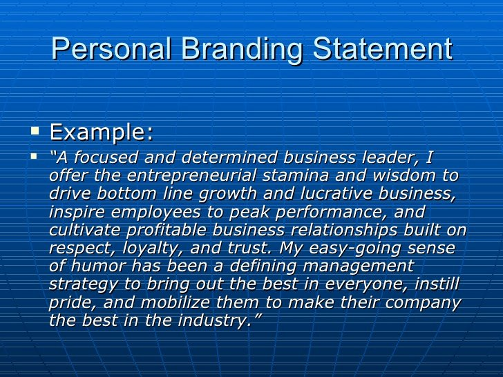 Examples Of Personal Branding Statements Best Of Developing Your Branding Statement