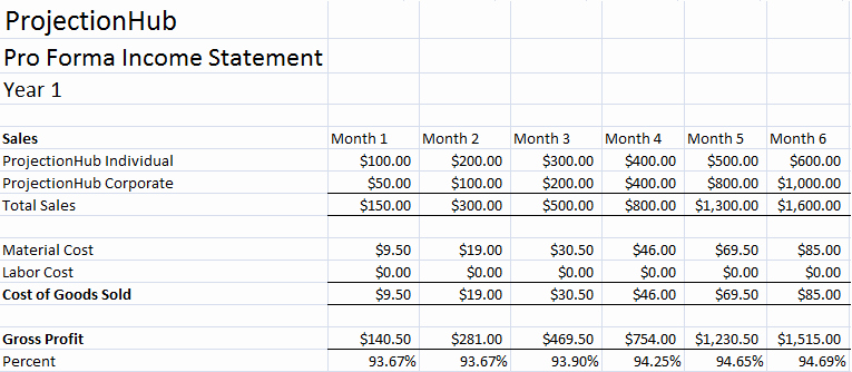 Examples Of Pro forma Financial Statements Elegant Financial Projection Template Archives Page 3 Of 3