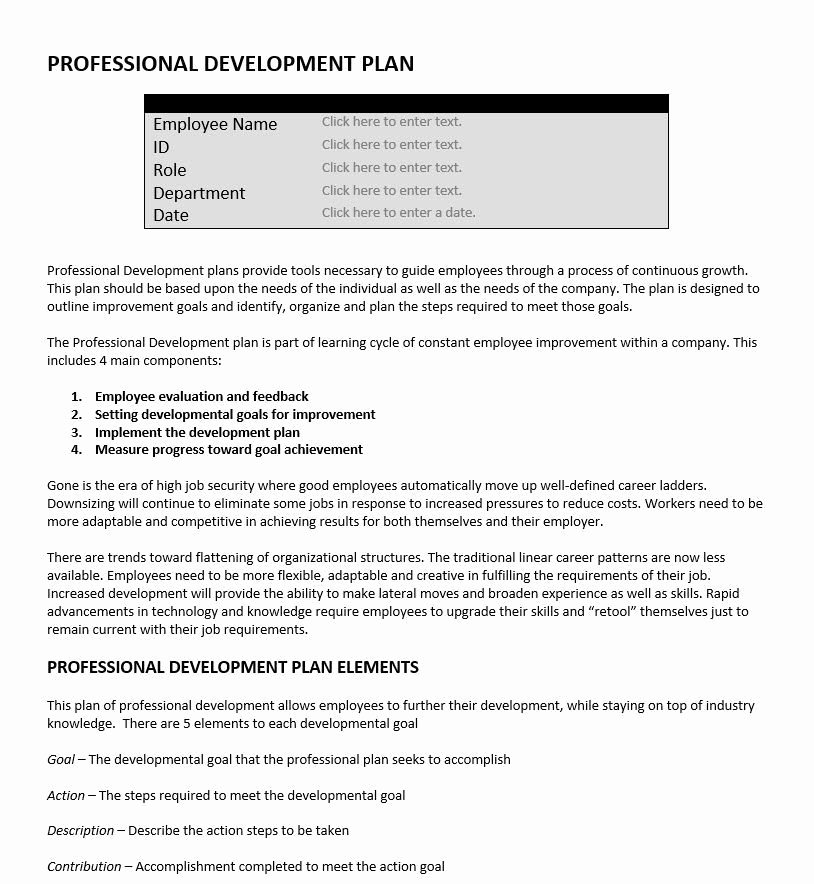 Examples Of Professional Development Plans Awesome Professional Development Plan