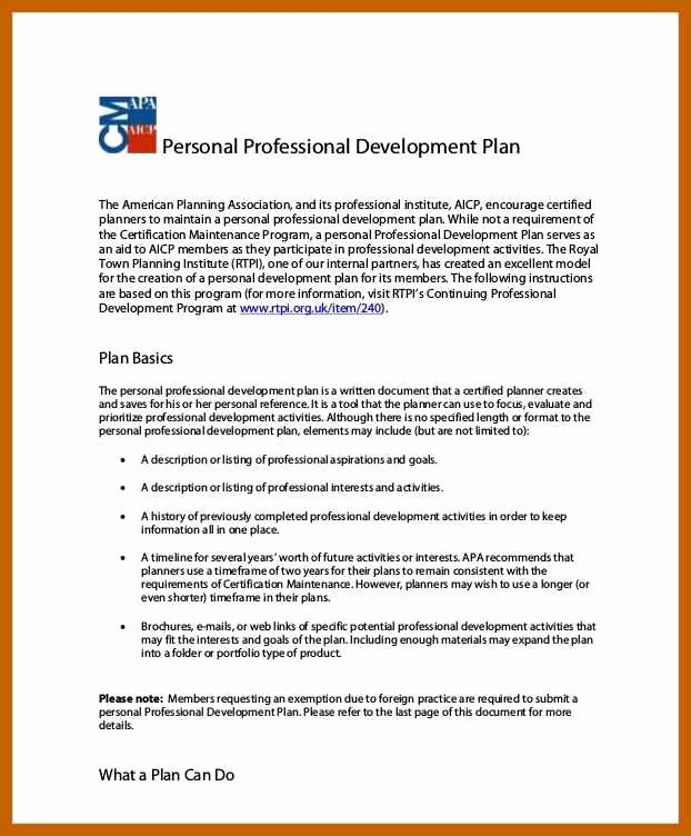 Examples Of Professional Development Plans Beautiful 2 3 Professional Development Plans Examples