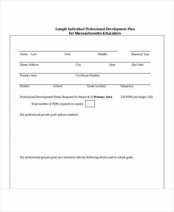 Examples Of Professional Development Plans New Professional Development Plan Sample 13 Examples In