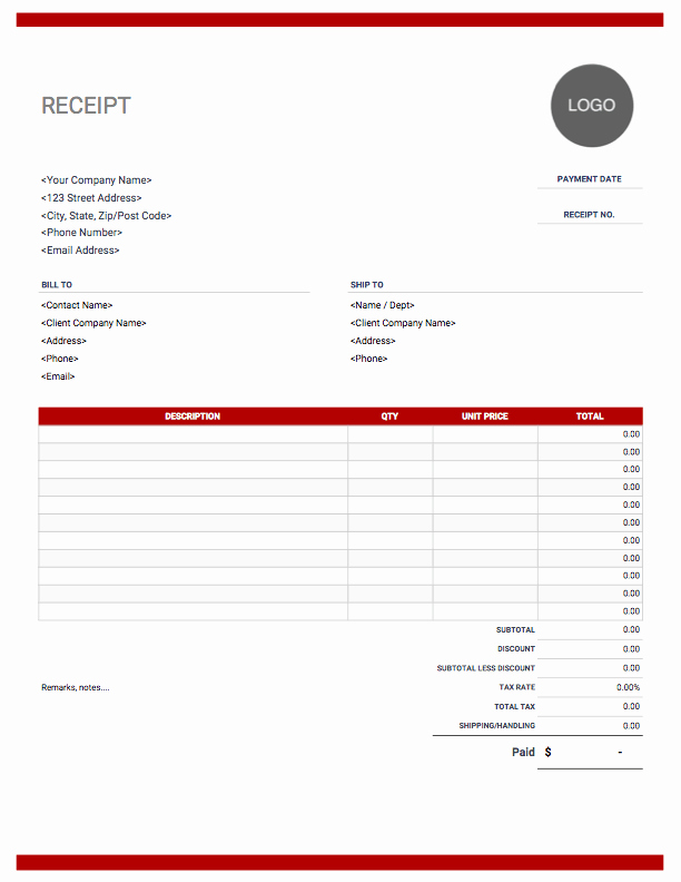 Examples Of Receipts Lovely Receipt Templates Free Download