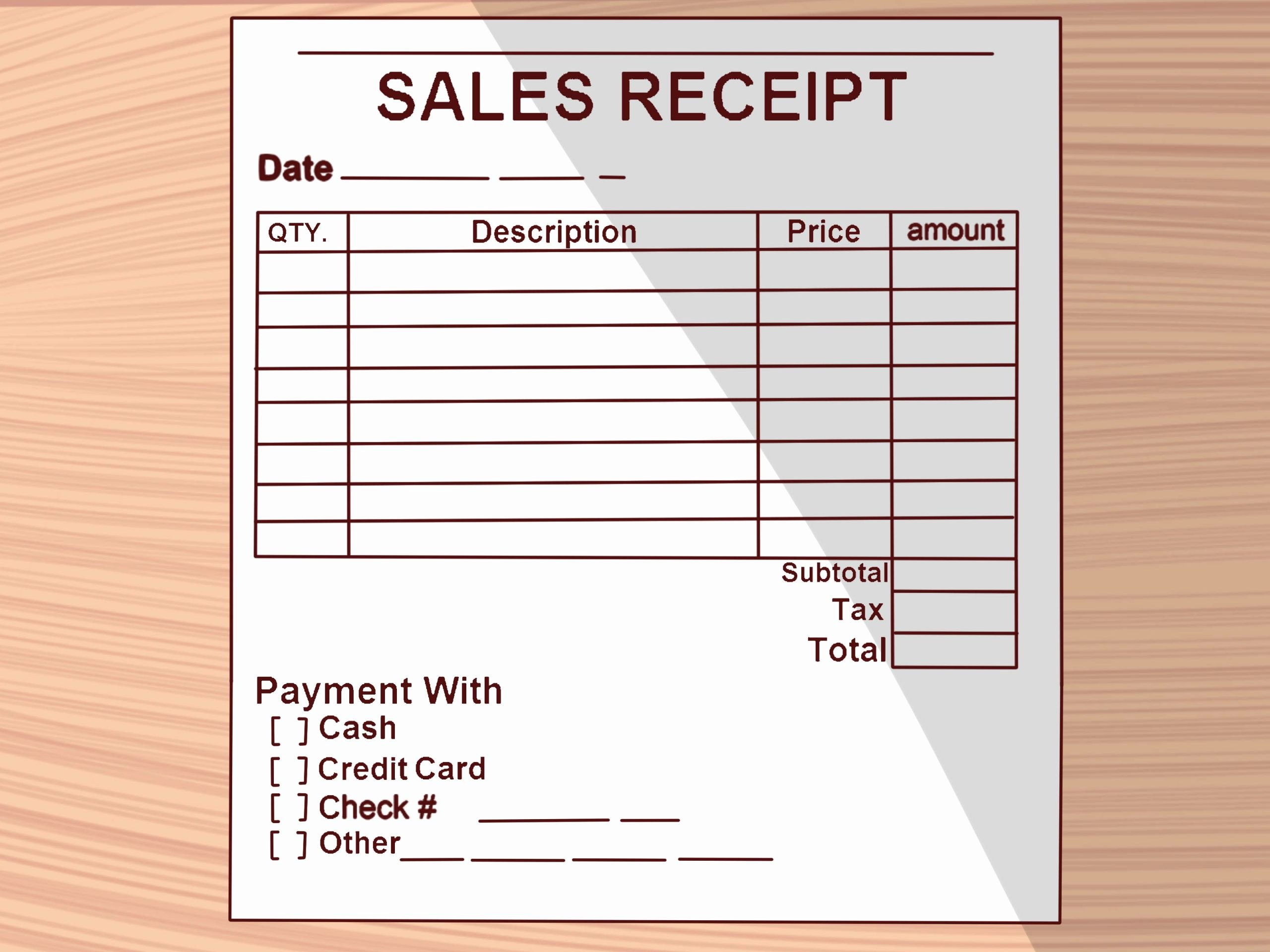 Examples Of Receipts Unique How to Write A Receipt 9 Steps with Wikihow