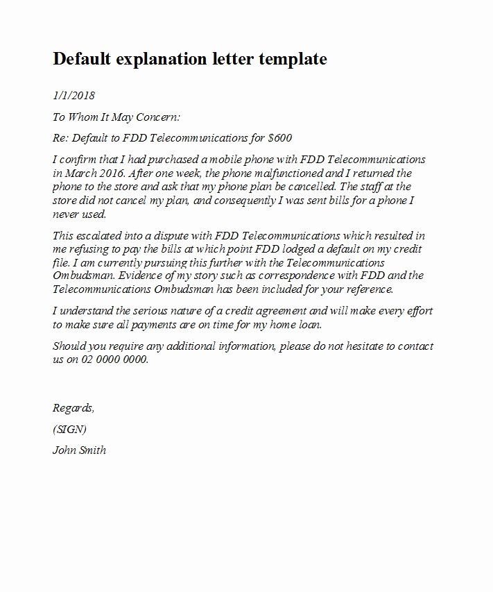 Explanation Letter Sample Awesome 48 Letters Explanation Templates Mortgage Derogatory