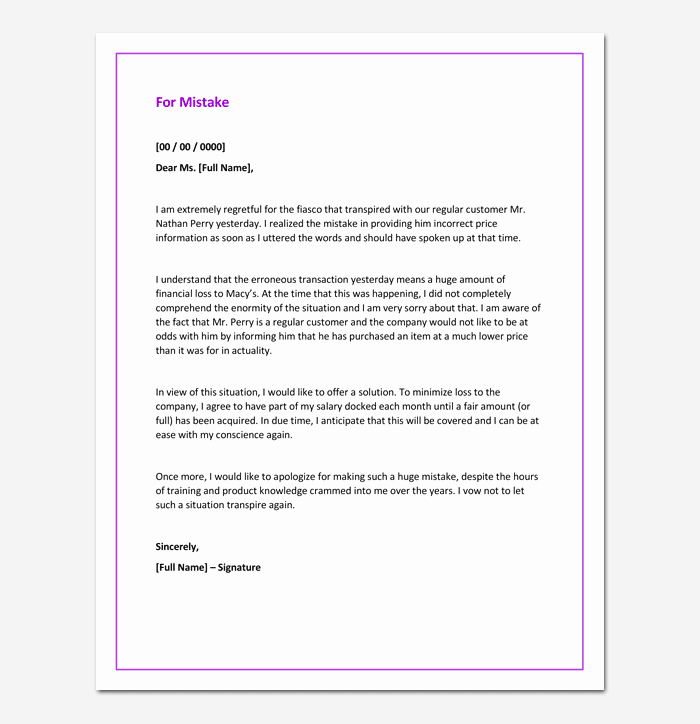 Explanation Letter Sample for Mistake Luxury How to Write Explanation Letter for Mistake 6 – New
