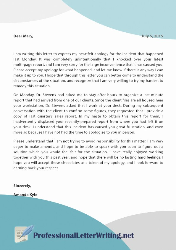 Explanation Letter Sample Lovely See How to Write An Explanation Letter for Mistake Here