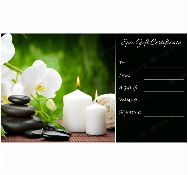 Facial Gift Certificate Template Beautiful 5 Spa Gift Certificate formats to Grow Business Dotxes