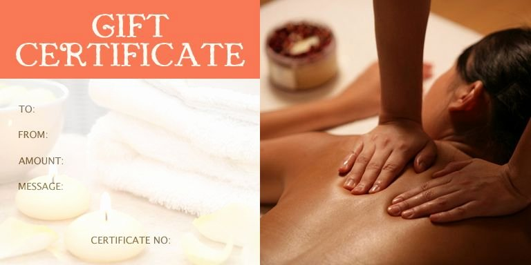 Facial Gift Certificate Template Best Of Massage Gift Certificate Template