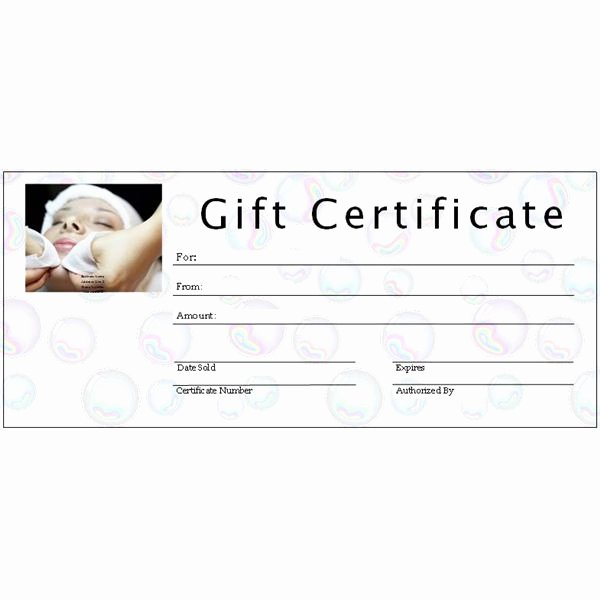 Facial Gift Certificate Template Fresh 6 Free Printable Gift Certificate Templates for Ms Publisher