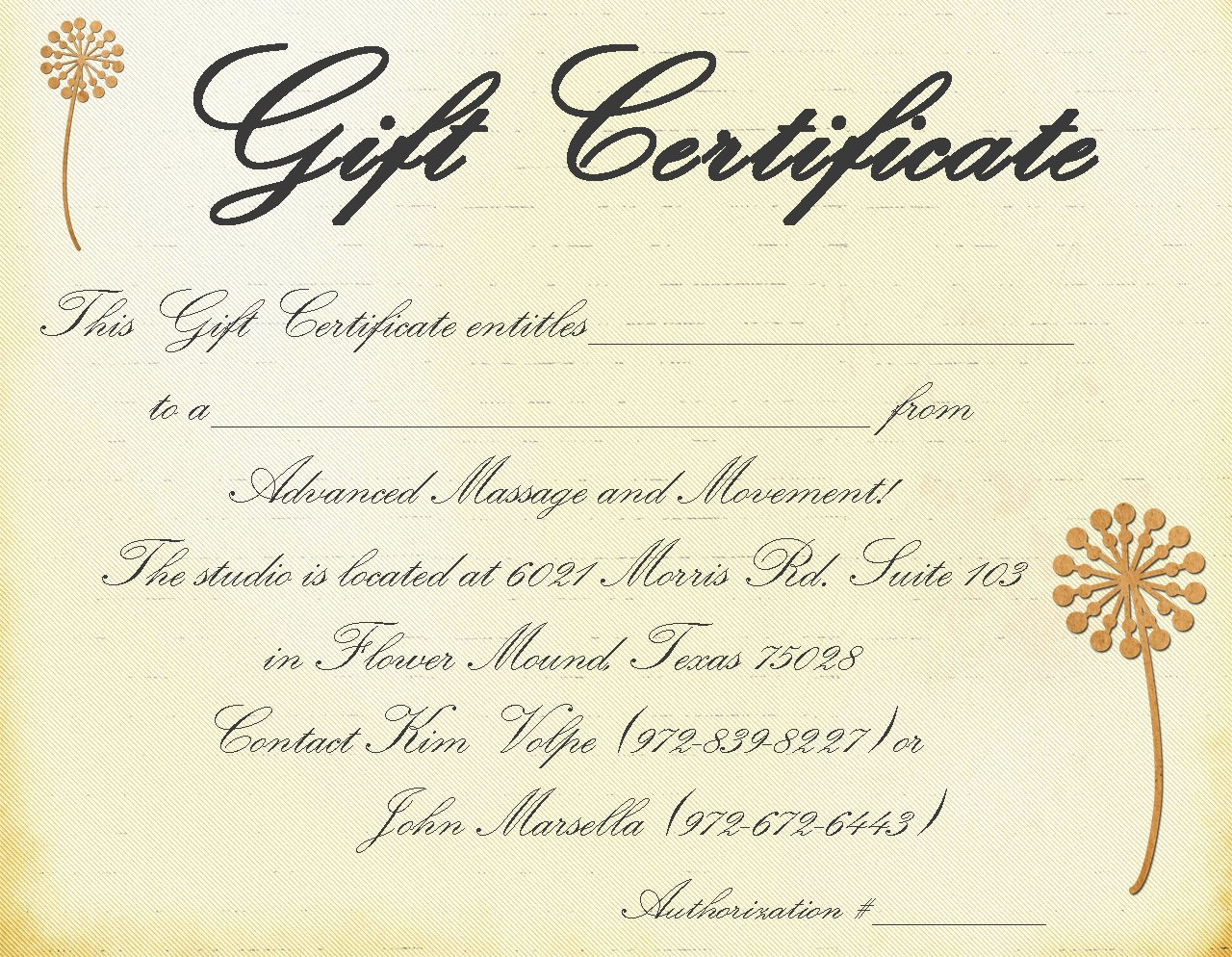 Facial Gift Certificate Template New Gift Certificate