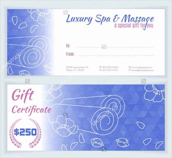 Facial Gift Certificate Template Unique 23 Massage Voucher Templates Psd Pdf Word