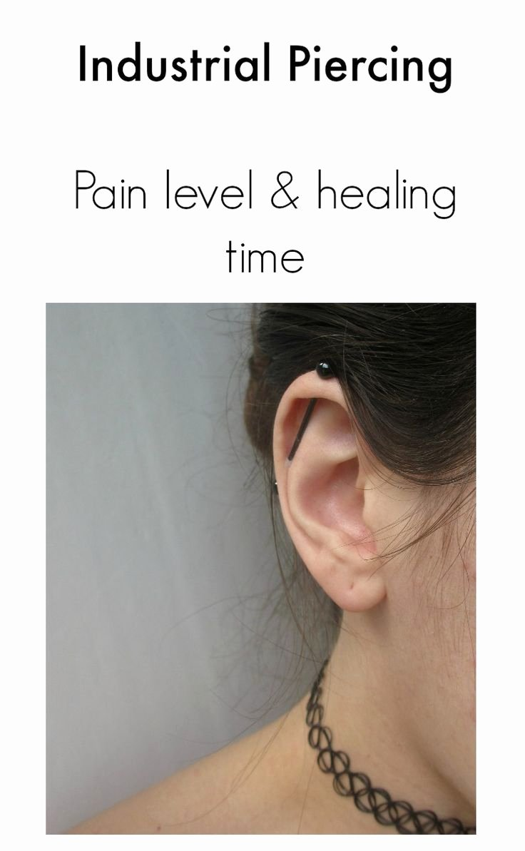 Facial Piercing Pain Chart Best Of Industrial Piercing Pain Level and Healing Time