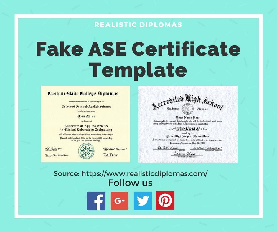 Fake ase Certificate Template Beautiful Can You Get ase Certification Line