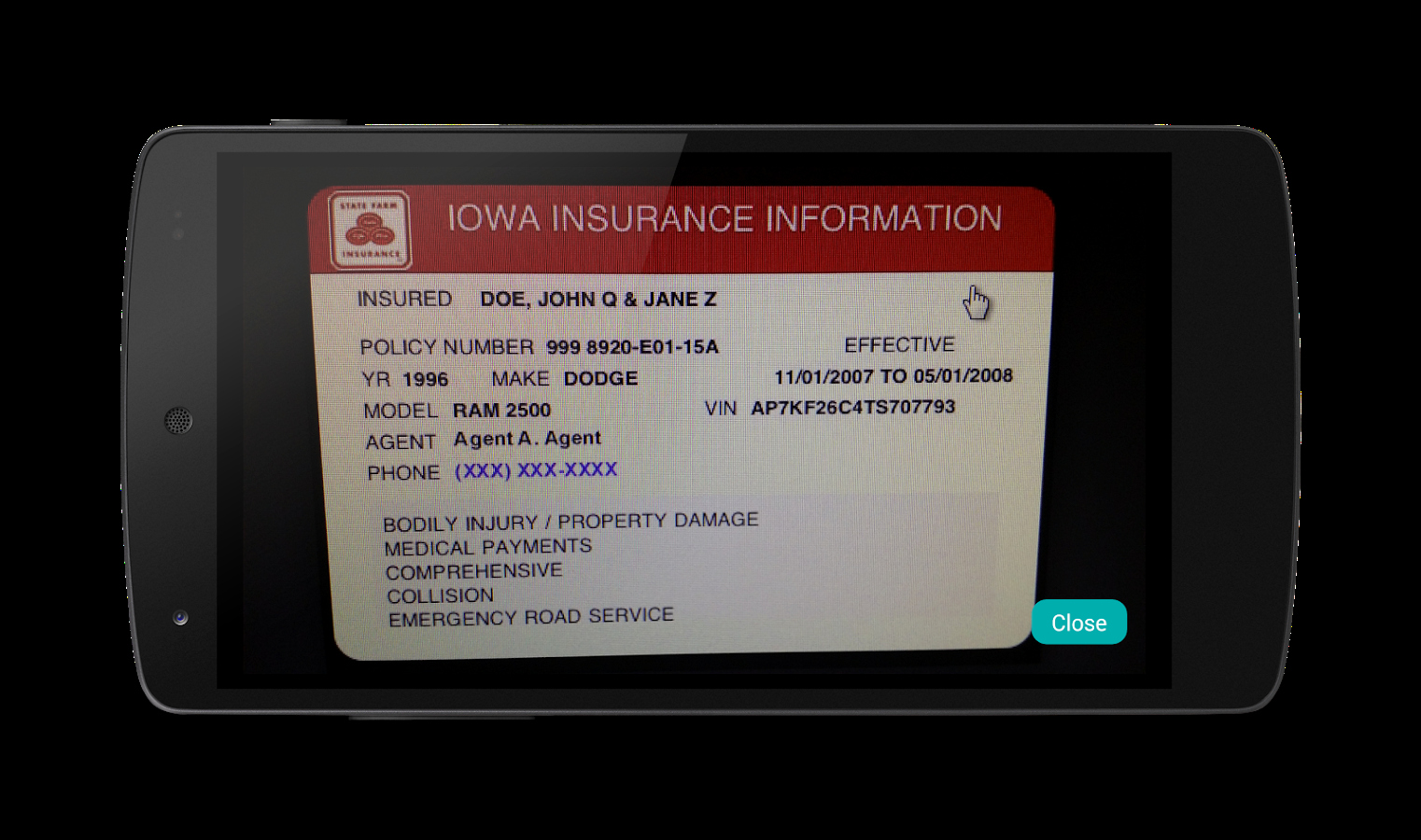 Fake Auto Insurance Cards Free Download Awesome Digital Insurance Card android Apps On Google Play