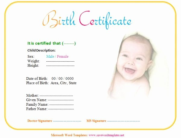 Fake Birth Certificate Template Free Luxury Fake Birth Certificate Birth Certificate