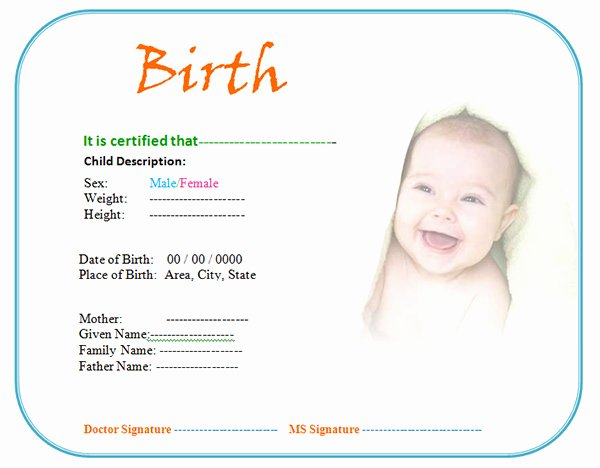 Fake Birth Certificate Template New Windows and android Free Downloads Create Fake Birth