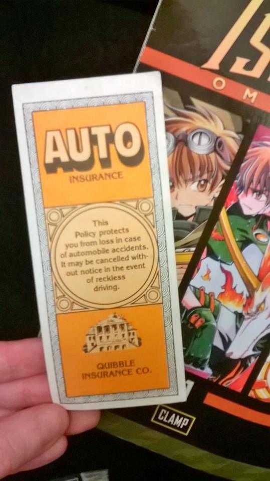 "Fake Car Insurance Card Beautiful Fake ""auto Insurance"" Card In Used Manga Foundpaper"