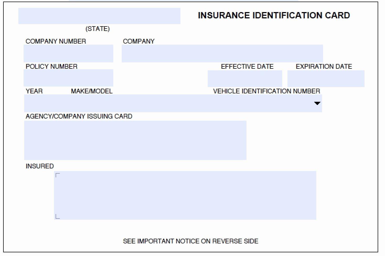 Fake Car Insurance Card Elegant Fake Car Insurance Card Pdf