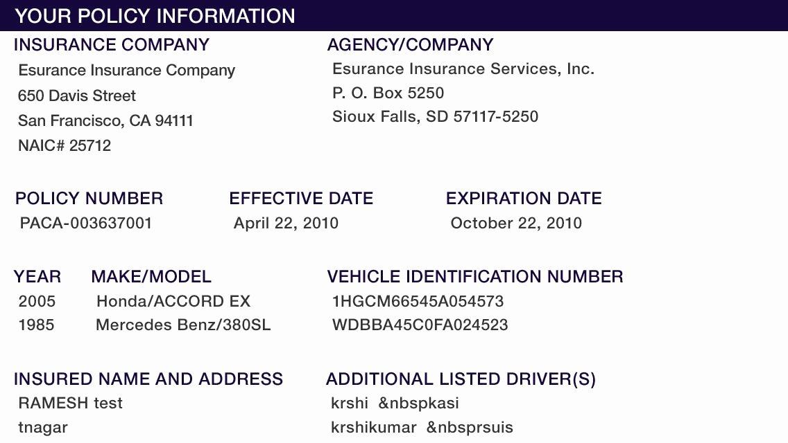 Fake Car Insurance Card Fresh Insurance Card Template Fake Insurance Card Template