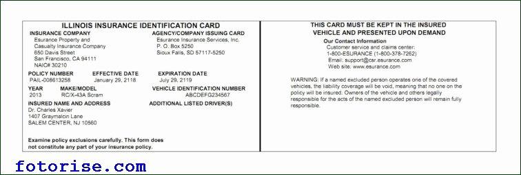 Fake Car Insurance Template Beautiful Insurance Card Template Auto Insurance Cards Templates