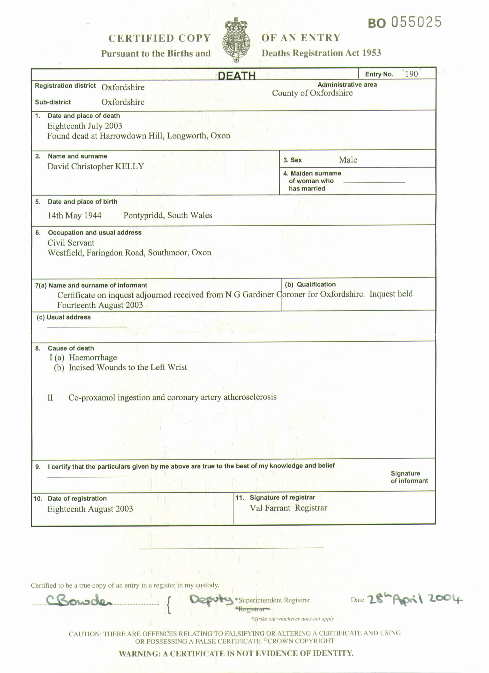Fake Death Certificate Template Best Of Professor Richard Shepherd and the Unnatural Death Of Dr