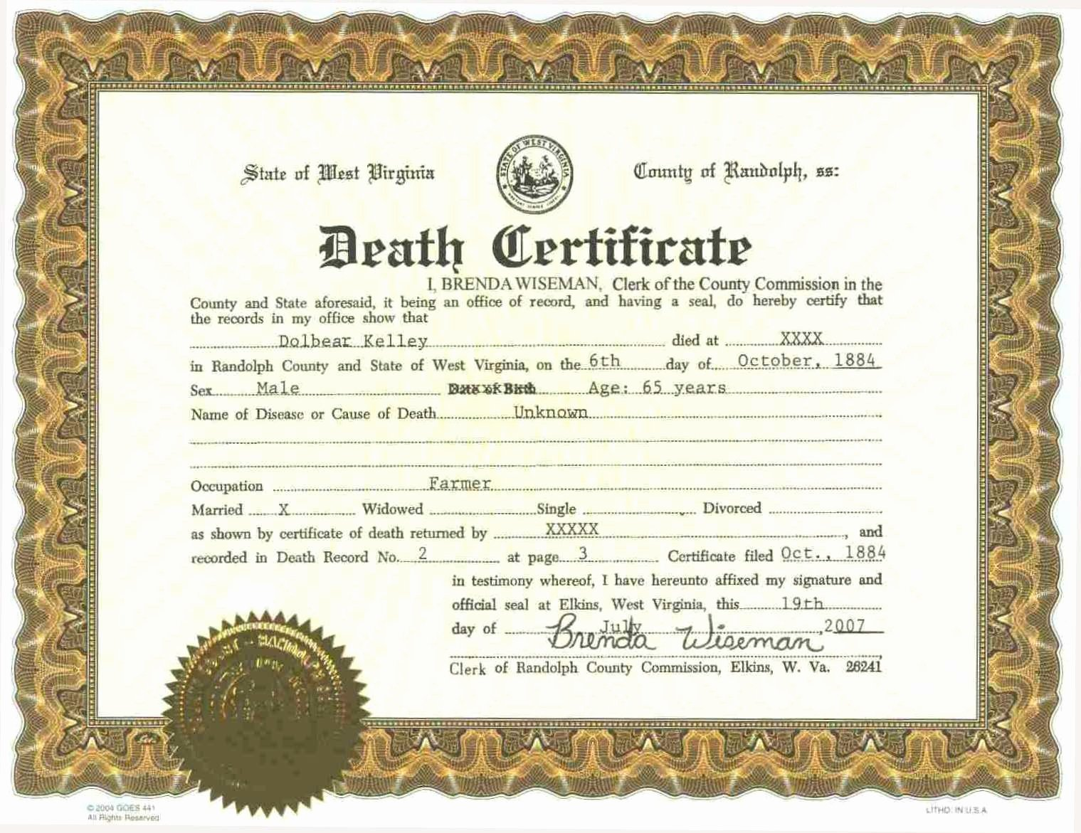 Fake Death Certificate Template Inspirational Fake Death Certificate Exclusive Fake Death Certificate