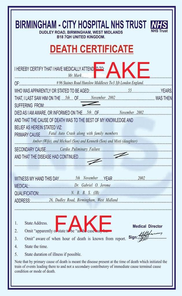 Fake Death Certificate Template New History Of 419 Spam 419 Scam Lottery Scam