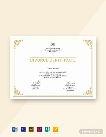 Fake Divorce Certificate Template Beautiful 27 Free Custom Certificate Templates In Microsoft Word