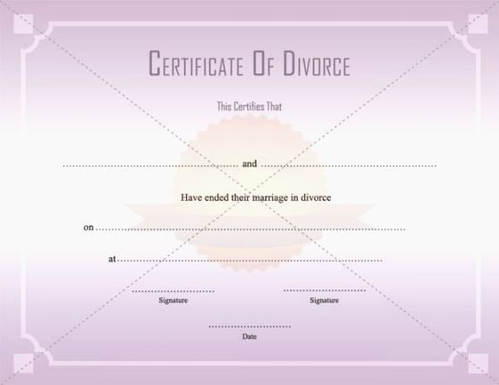 Fake Divorce Certificate Template Lovely Epic Printable Fake Divorce Papers