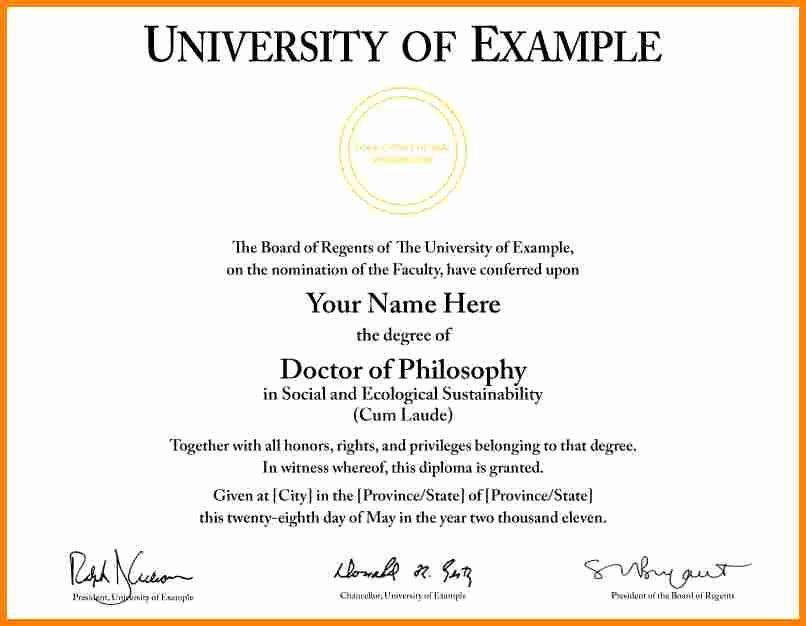 Fake Graduation Photo Maker Fresh University Certificate Template