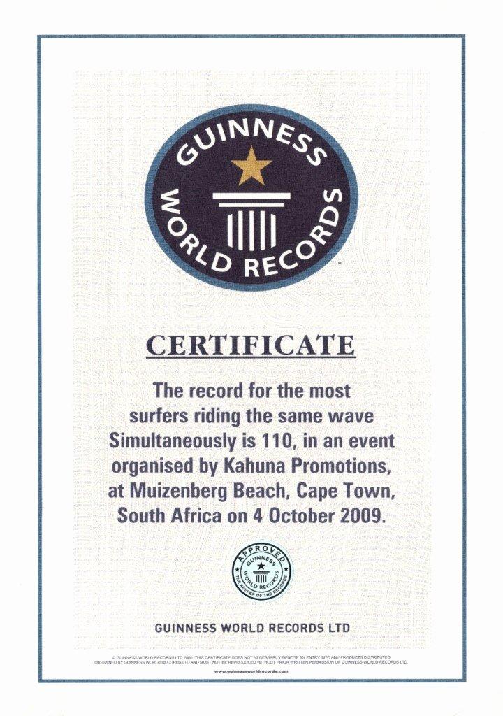 Fake Guinness World Record Certificate Elegant Kahuna Promotions Guinness World Record Confirmed