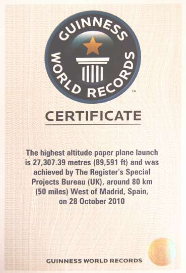 Fake Guinness World Record Certificate Fresh Paris soars to Guinness World Record • the Register
