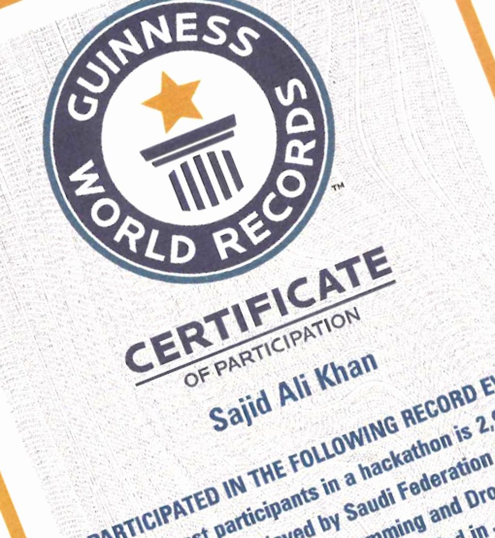 Fake Guinness World Record Certificate Lovely Guinness World Record Holder Hajj Hackathon