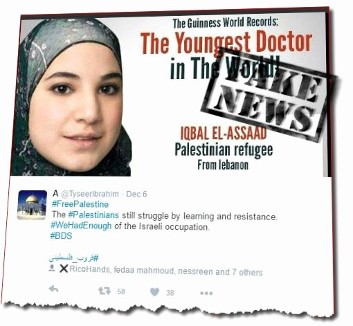 latest fakenews palestinian as worlds youngest doctor lie