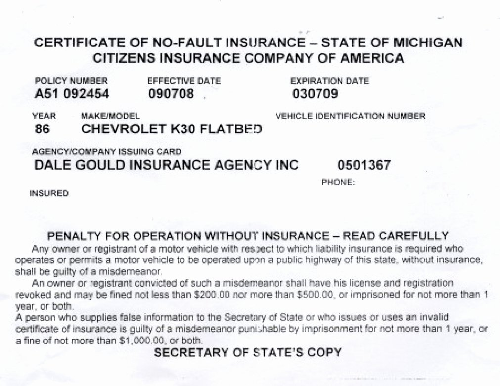 Fake Insurance Card Awesome Proof Auto Insurance Template Free