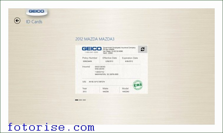 fake geico insurance card template auto insurance id card template