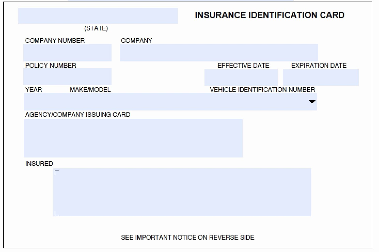 fake proof of insurance card
