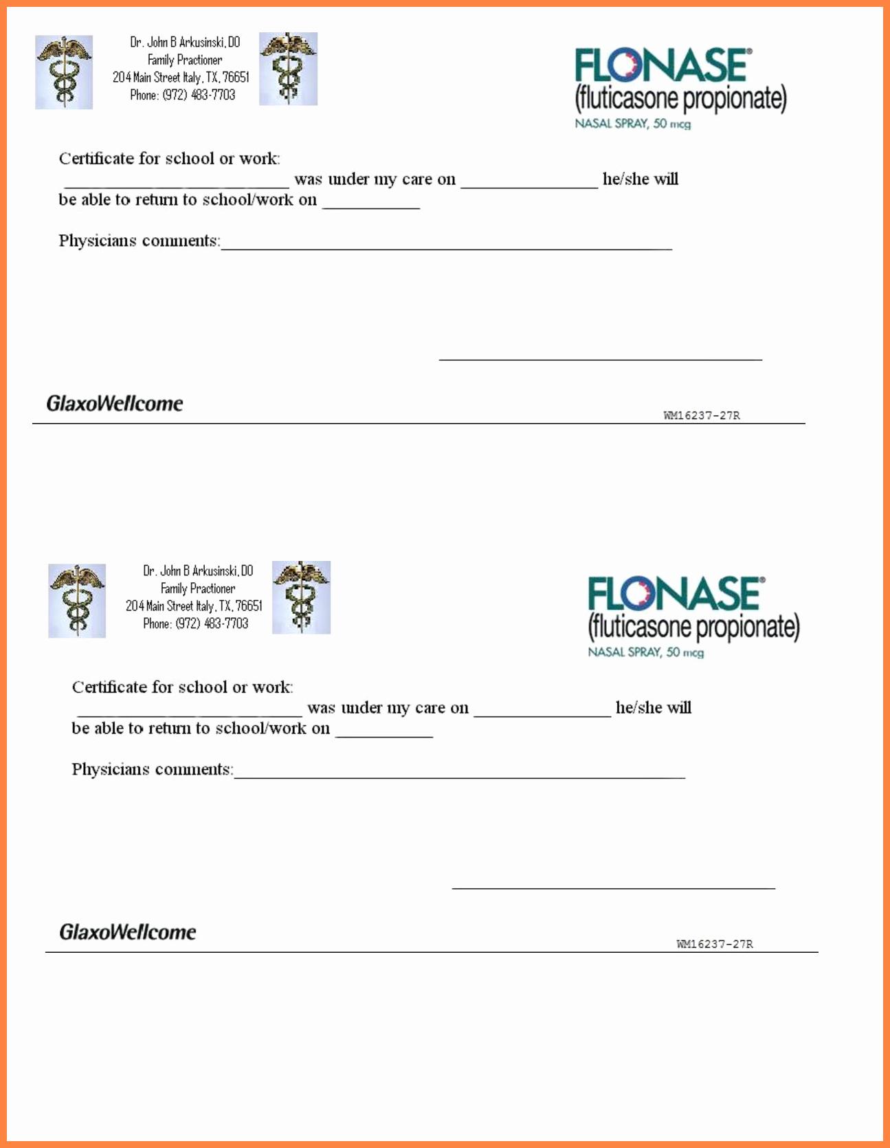 Fake Kaiser Doctors Note Template Elegant 10 Printable Fake Doctors Notes Free