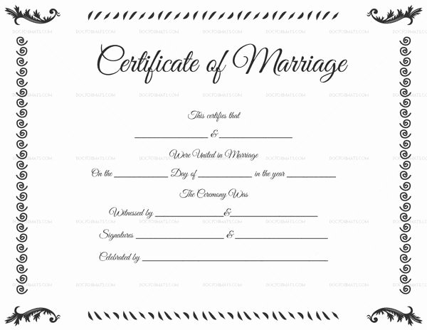 Fake Marriage Certificate Template Awesome 34 Best Printable Marriage Certificates Images On