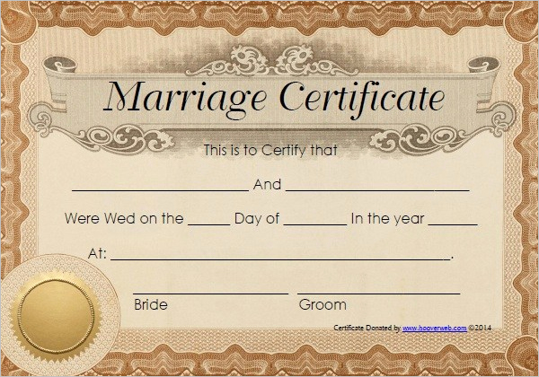 Fake Marriage Certificate Template Awesome 42 Free Marriage Certificate Templates Word Pdf Doc