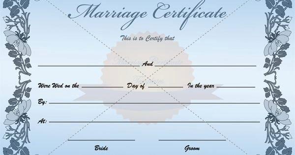 Fake Marriage Certificate Template Beautiful Fake Blank Marriage Certificate Template
