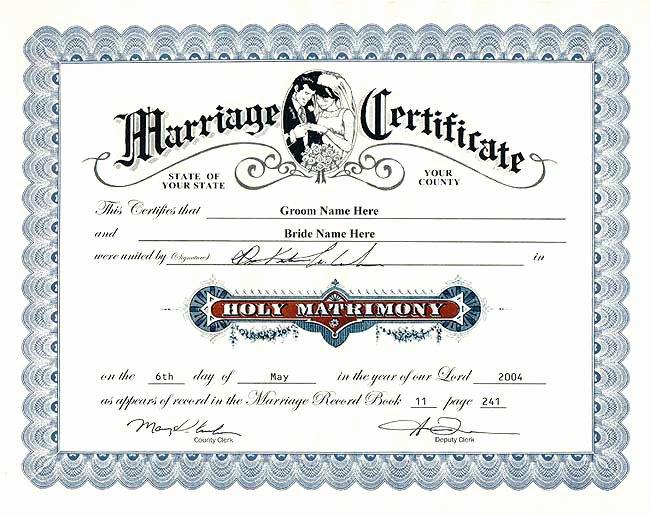 Fake Marriage Certificate Template Beautiful Fake Wedding Certificate