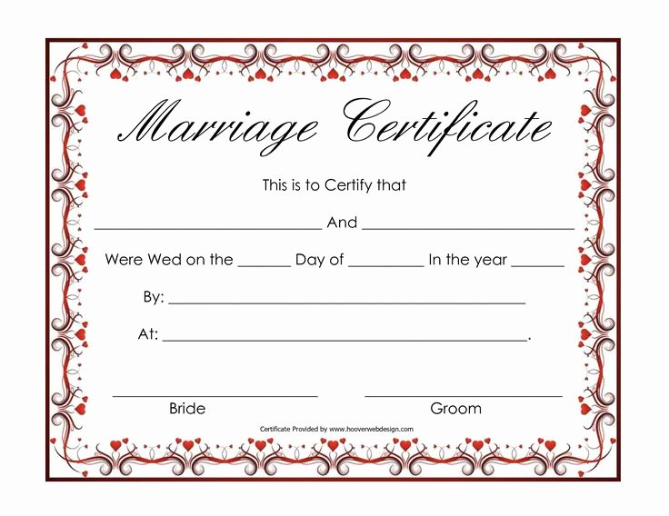 Fake Marriage Certificate Template Beautiful Free Blank Marriage Certificates